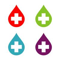 Cross and Drop Water Logo Template Illustration Design. Vector EPS 10.