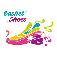 splash basket shoes vector