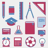 Education icons set