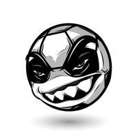 angry soccer ball vector