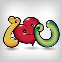 Ich liebe dich Symbol Cartoon