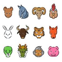 Animal zodiac icon