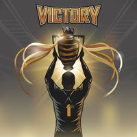 soccer player victory trophy vector