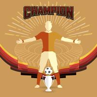 soccer champions poster vector
