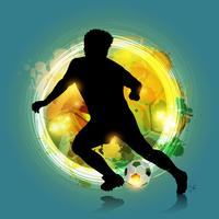 abstract colorful soccer player