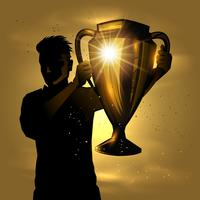 Man with trophy