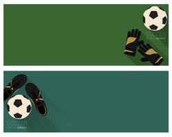 Bandeira de futebol plana vetor
