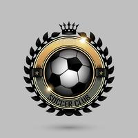 soccer emblems with crown vector