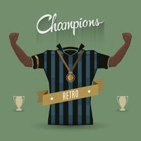 retro soccer sign champions