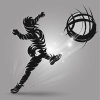 Soccer shooting ink style vector