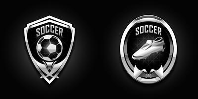 emblemas de cromo de futebol vetor