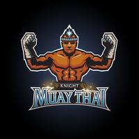Muay thai club logo