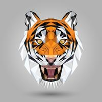 geometric tiger head vector