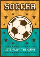 Contrassegno di retro manifesto di arte di schiocco di sport di calcio di calcio