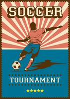 Soccer Football Sport Retro Pop Art Poster Signage