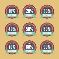 Retro discount badge sell sale promotion vector