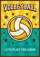 Volleybal Volleybal Sport Retro Pop Art Posterborden