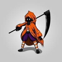 Halloween reaper cartoon vector