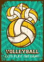 Volley Ball Volleyball Sport Retro Pop Art Poster Signage