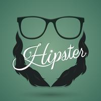 Hipster glasses sign