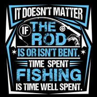 It Doesn't Matter If The Rod Is Or Isn't Bent  vector