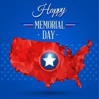 Blue happy memorial day