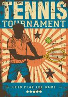 Tennissport retro popart postersignage