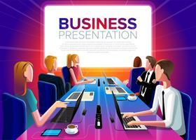 Grupo de reunión de negocios