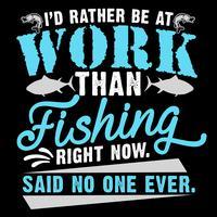 Id är hellre på jobbet än fiske