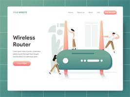 Wireless Router Illustration Concept. Modern designkoncept av webbdesign för webbplats och mobilwebbplats. Vector illustration EPS 10