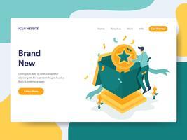Molde da página da aterrissagem do conceito brandnew da ilustração. Conceito moderno design plano de design de página da web para o site e site móvel.