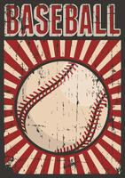 Signage retro do cartaz do pop art do esporte do basebol