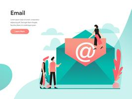 E-mail Illustratie Concept. Modern vlak ontwerpconcept Web-paginaontwerp voor website en mobiele website Vector illustratie Eps 10