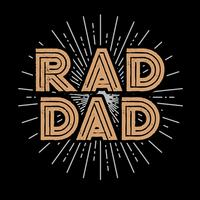 Rad Dad typografie Art