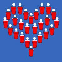 Cerveza Pong Corazón vector
