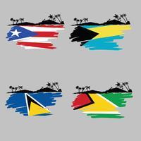 Isla caribeña vector