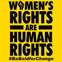 Women's Rights Are Human Rights vector