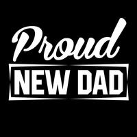 Trotse nieuwe vader