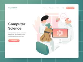Computer Science Illustratie Concept. Modern ontwerpconcept Web-paginaontwerp voor website en mobiele website Vector illustratie Eps 10
