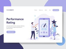 Landing page template of Performance Rating Illustration Concept. Modern flat design concept of web page design for website and mobile website.Vector illustration
