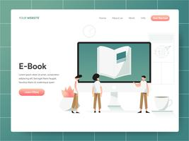 E-Book Illustration Concept. Modern design concept of web page design for website and mobile website.Vector illustration EPS 10