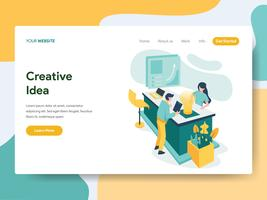 Landing page template of Creative Idea Illustration Concept. Modern Flat design concept of web page design for website and mobile website.Vector illustration