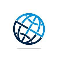 Modèle de logo Globe pour la conception de Business Business Communication. Vecteur EPS 10.