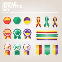World hepatitis day vector pack