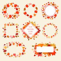 Set of Vector Hand Drawn Autumn frames