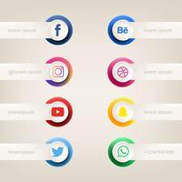Botão de Mídia Social Vector Pack