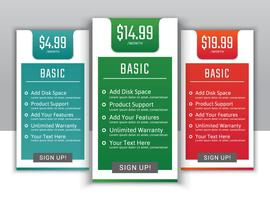 Pricing plans for websites and applications