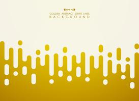 Abstract of golden stripe line pattern with white space background.