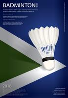 Badminton Championship Poster Vector illustration