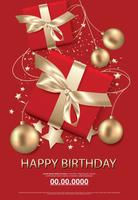 Happy birthday poster card celebration vector illustration